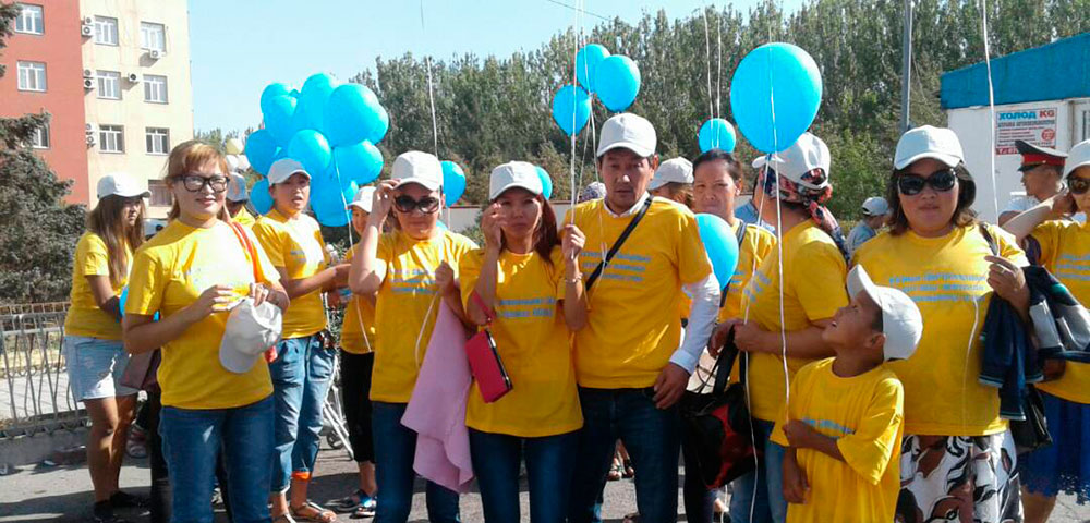 Parents demonstrate in Bishkek for better care of their children with special needs